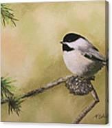 My Little Chickadee Canvas Print