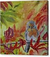 My Little Titmouse Canvas Print