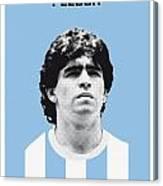 My Maradona Soccer Legend Poster Canvas Print