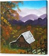 My Neighbors Barn Big Sandy Mush Nc Canvas Print