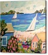 My Pink Hibiscus Tree Canvas Print