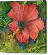 My Quiet Place-hibuscus Flower Canvas Print