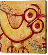 My Red Primitive Owl Canvas Print