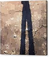 My Shadow Standing Canvas Print