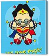 My Supercharged Voodoo Dolls Wonder Woman Canvas Print
