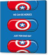 My Superhero Pills - Captain America Canvas Print