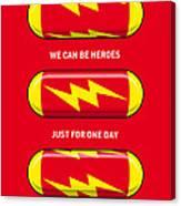 My Superhero Pills - The Flash Canvas Print