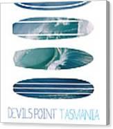 My Surfspots Poster-5-devils-point-tasmania Canvas Print