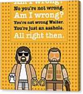 My The Big Lebowski Lego Dialogue Poster Wood Print By Chungkong Art