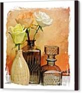 My Three Roses Still Life Canvas Print