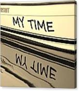My Time Boat Name Canvas Print