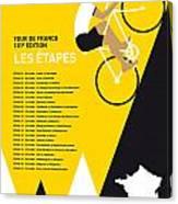 My Tour De France Minimal Poster 2014-etapes Canvas Print