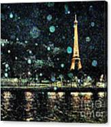My Van Gogh Eiffel Tower Canvas Print