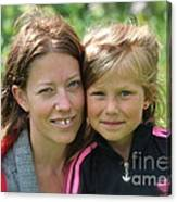 My With Mother. Sweden. Canvas Print