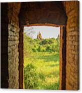 Myanmar Bagan View Of Some Pagodas Canvas Print