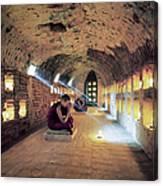 Myanmar, Buddhist Monks Inside Canvas Print