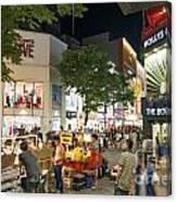 Myeongdong Shopping Street In Seoul South Korea Canvas Print