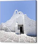 Mykonian Church Canvas Print