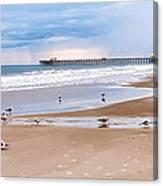 Myrtle Beach - Rainy Day Canvas Print