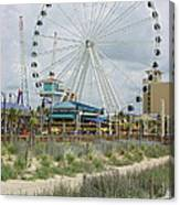 Myrtle Beach Skywheel 10 Canvas Print
