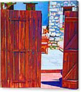 Mysterious Courtyard Canvas Print