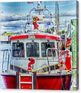 Mystic Fireboat Canvas Print