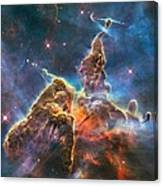 Mystic Mountain Part Of Carina Nebula Canvas Print
