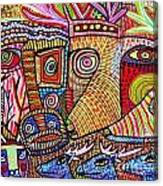 Mythical Zebra Deer Tribe Canvas Print