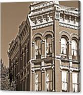 N. D. Hill Building. Port Townsend Historic District  Canvas Print