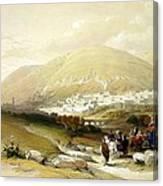 Nablus Old Shechem Canvas Print