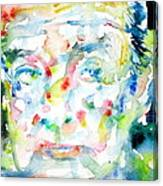Nabokov Vladimir - Watercolor Portrait Canvas Print