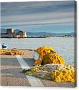 Nafplio Fishing Harbour Canvas Print