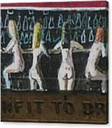 Naked Ladies At The Bar By David Lovins Canvas Print