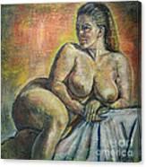 Naked Paris Canvas Print