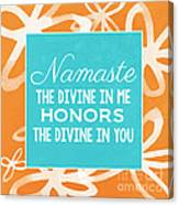 Namaste Watercolor Flowers Canvas Print