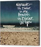 Namaste Waves  Canvas Print