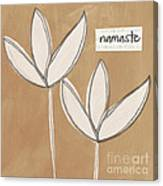 Namaste White Flowers Canvas Print