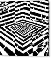 Nano Curcuits Maze  Canvas Print