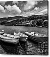 Nantlle Uchaf Boats Canvas Print