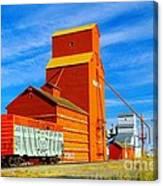 Nanton Grain Elevators  Canvas Print