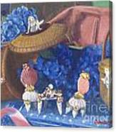 Nantucket Mermaid Tea Canvas Print