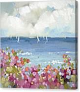 Nantucket Sea Roses Canvas Print