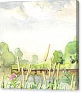 Napanee River West Canvas Print