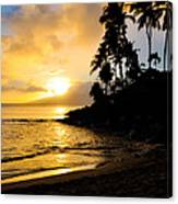 Napili Sunset Evening  Canvas Print
