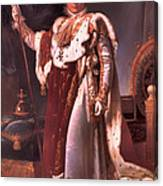 Napoleon In His Coronation Robes  Canvas Print