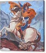 Napoleon On A Horse In The Alps Canvas Print