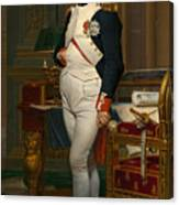 Emperor Napoleon In His Study At The Tuileries Canvas Print