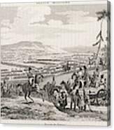 Napoleon's Army Crosses The  Neman Canvas Print