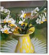 Narcissus In The Vase Canvas Print
