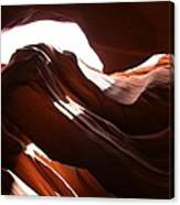 Narrow Canyon X Canvas Print